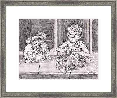 Children Of The Appalachians Framed Print