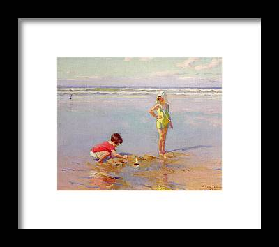 Sandcastle Framed Prints