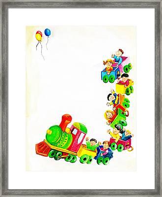 Children On Train Framed Print by Mattia Masciullo