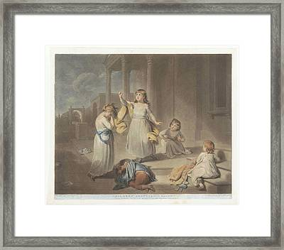 Children Play A Tragedy, Charles Howard Hodges Framed Print