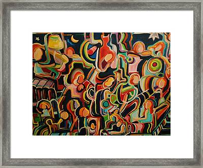 Children Playing Framed Print