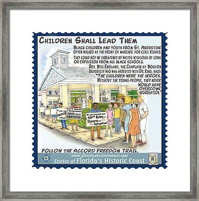 Children Shall Lead Them Framed Print