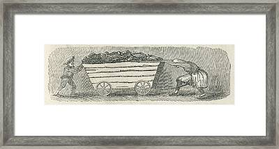Children Working As Putters A Girl Framed Print