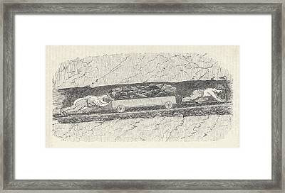 Children Working As Putters Three Framed Print