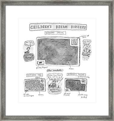 Children's Dream Dinners Superhero Special Title: Framed Print