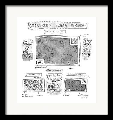 Green Beans Drawings Framed Prints
