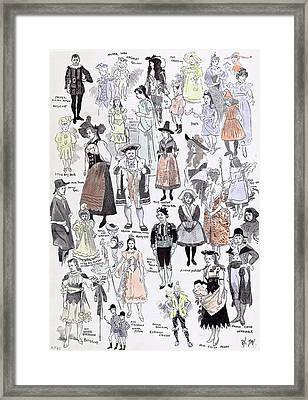 Childrens Fancy Dress At The Mansion House 1892 Mastor Framed Print by English School