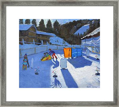 Childrens Ice Rink Framed Print by Andrew Macara