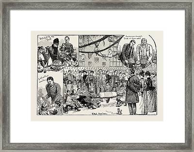 Childrens New Years Party Given At The Royal Military Framed Print