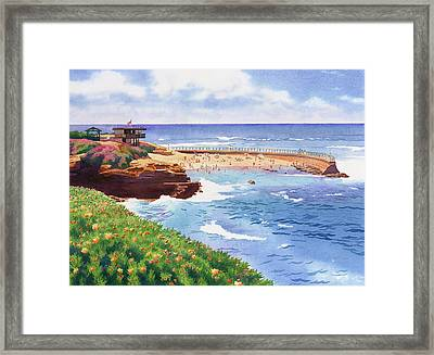 Children's Pool In La Jolla Framed Print