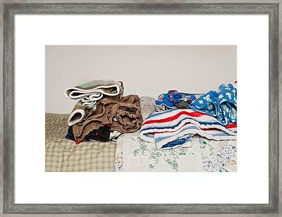 Child's Clothes Framed Print by Tom Gowanlock