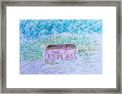 Child's Drawing Framed Print by Tom Gowanlock