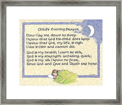 Child's Evening Prayer Framed Print