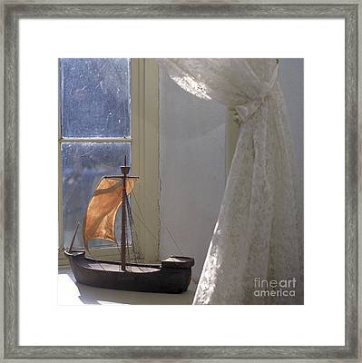Child's Sailboat Framed Print