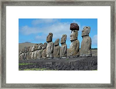 Chile, Easter Island, Hanga Nui Framed Print by Cindy Miller Hopkins
