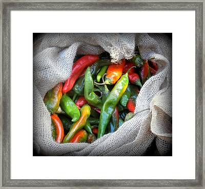 Chiles Framed Print by Karyn Robinson