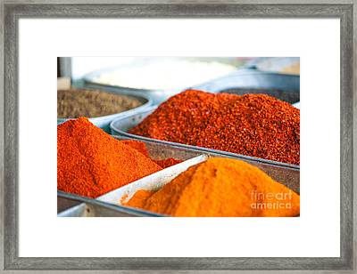 Chili Pepper Powder Framed Print