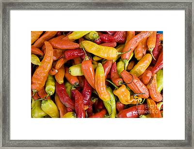 Chili Peppers Framed Print by William H. Mullins