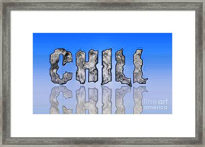 Chill Digital Art Prints Framed Print by Valerie Garner
