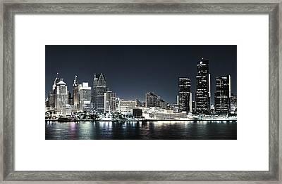 Chilled Detroit Skyline  Framed Print