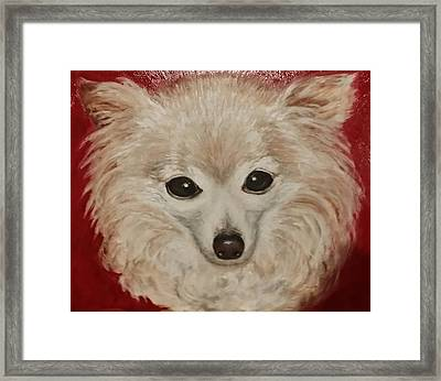 Framed Print featuring the painting Chilli Dog by Sandra Nardone