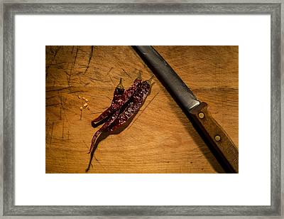 Chilli Peppers Framed Print by Andrew Pacheco