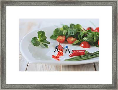 Chilli Salad For Tonight's Dinner Framed Print