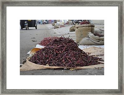 Chillies  Framed Print by Bliss Of Art