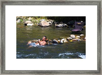 Chillin In The River Framed Print by Floyd Snyder