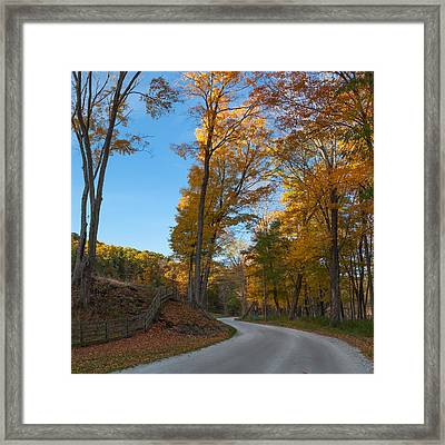 Chillin' On A Dirt Road Square Framed Print by Bill Wakeley
