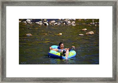 Chillin On The River Framed Print by Floyd Snyder