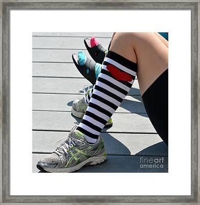 Chillin Socks Framed Print by Brenda Dorman