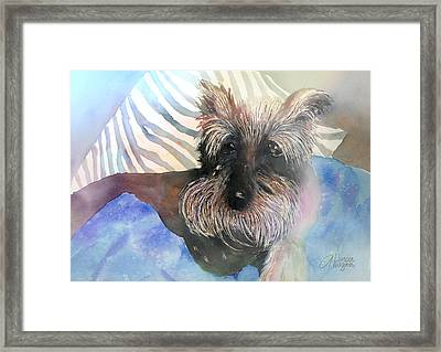 Framed Print featuring the painting Chilling Out by Arline Wagner
