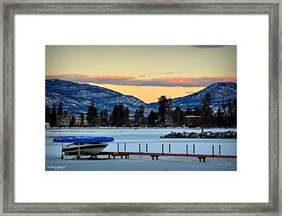 Chillingsunrise 001 Skaha Lake 02-28-2014 Framed Print