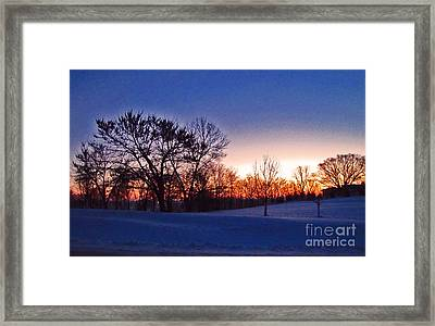Chilly Beautiful Sunrise Framed Print by Minding My  Visions by Adri and Ray