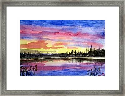 Chilly Morning Sunrise Framed Print