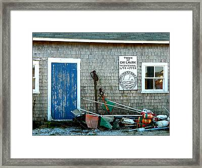 Chilmark Dock Shack Framed Print