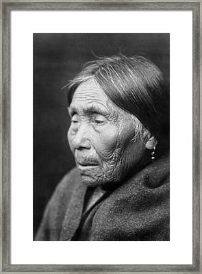 Chimakum Indian Woman Circa 1913 Framed Print by Aged Pixel