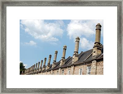 Framed Print featuring the photograph Chimney Stacks At The Ready by Linda Prewer
