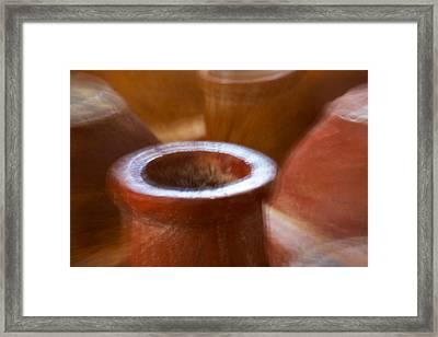 Chimineas Framed Print by Stuart Litoff
