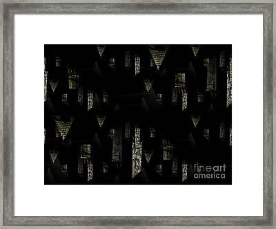 Chimney Abstract Framed Print by Barbara Moignard