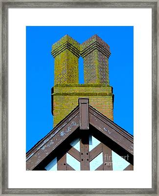 Chimney Abstract Framed Print by Ed Weidman