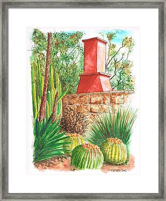 Chimney At The Arboretum - Arcadia - California Framed Print