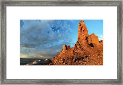 Chimney Bluffs 2 Framed Print by Mark Papke