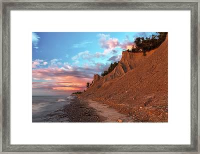 Chimney Bluffs 3 Framed Print