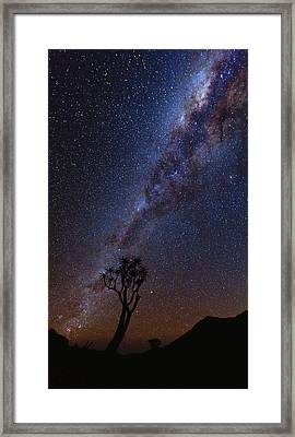 Chimney Of Light Framed Print by Basie Van Zyl