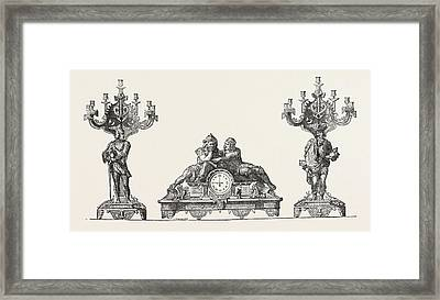 Chimney Ornaments In Bronze Framed Print