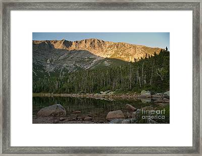 Chimney Pond  Framed Print by Alana Ranney