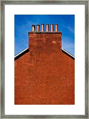 Framed Print featuring the photograph Chimney Pots by Bud Simpson