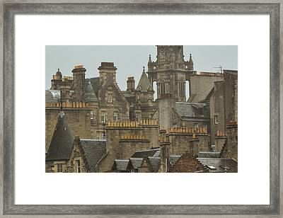 Chimney Pots Of Edinburgh Framed Print by Bill Mock